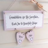 Wooden Handmade Personalised Plaque Grandchildren Are Like Snowflakes